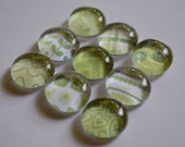 Glass Marble Magnets - Greens