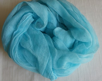 Cheesecloth, Newborn Wrap Photography Prop, Aqua Cheesecloth, Baby Wrap, Newborn Photo Prop, Newborn Cheeseclth Wrap, Gauze