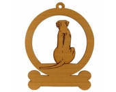 Rhodesian Ridgeback Sitting Ornament 083821 Personalized With Your Dog's Name