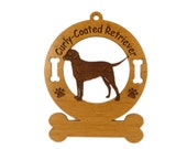 3025 Curly Coated Retriever Standing Personalized Dog Ornament