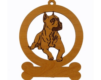 American Pit Bull Ornament 081200 Personalized With Your Dog's Name