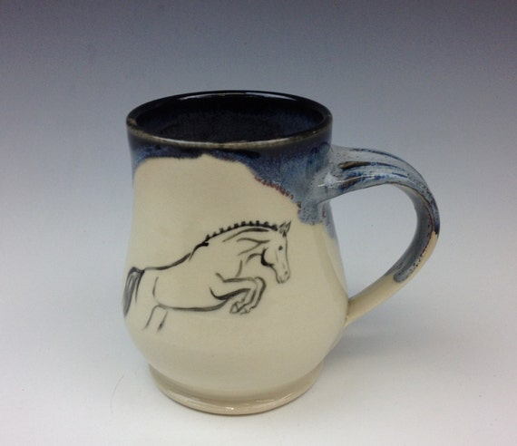 Jumping Horse Mug- Galaxy Blue