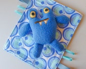 Baby Crinkle Toy with Matching Stuffed Monster