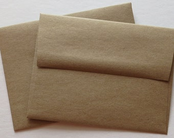 BBE2 Qty. 50 A2 70 lb.Recycled Brown Bag Envelopes 4 3/8 x 5 3/4 (11.11cm x 14.61cm)
