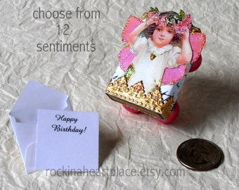 Matchbox Art - Decorated Box with gift card (your choice of sentiment), Tooth Fairy, Tooth Box