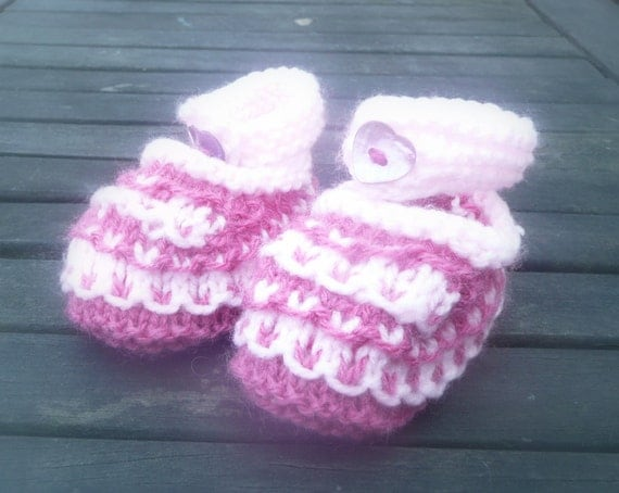 show me how to make baby booties