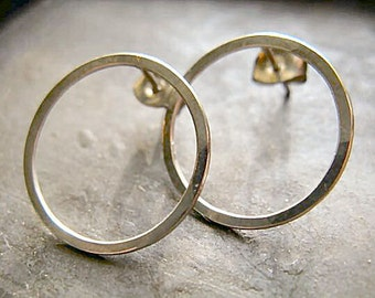 Hoop stud earrings 3/4 inch