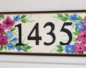 Address plaque sign house number sign. Custom