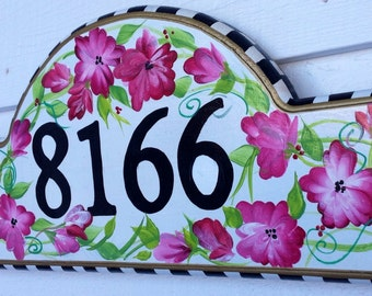 Address Plaque Hand Painted sign custom
