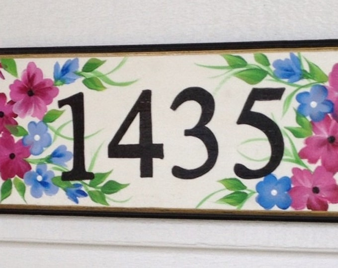 Address plaque sign house number sign. Custom