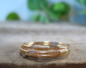 Stacking Rings Gold Filled Gold Wrap Set of 3 Stacking Rings/Layering Rings/Gold Band Rings/Minimal Rings/Delicate Rings/Thumb Rings/Pointer