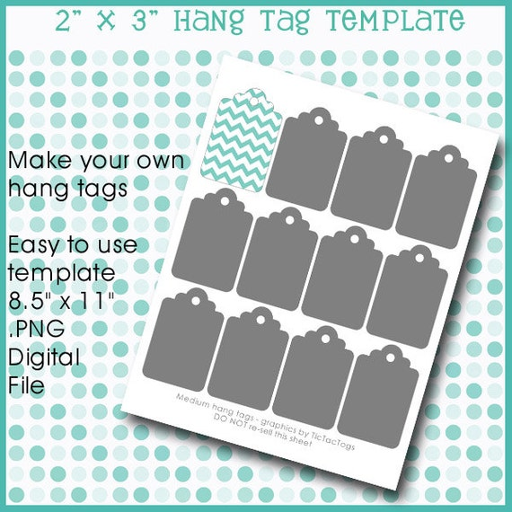 instant download hang tag gift template collage set by tictactogs. Black Bedroom Furniture Sets. Home Design Ideas