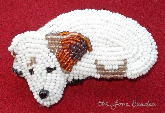Beading kit jack russell terrier dog brooch bead