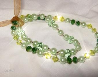 MINTS  Green Crystal Bracelet and Anklet