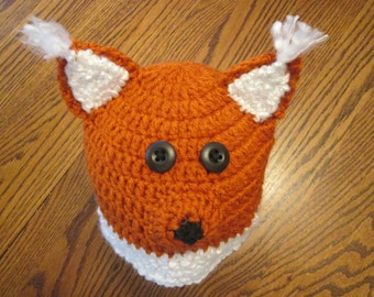 Crochet Fox Hat Beanie
