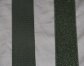 1 foot of 2 inch wide Velcro Hook and Loop Fastener - Olive GREEN - drab green like army green fastener SEW ON