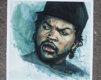 Ice Cube - 16 x 16 Giclee Print SIGNED EDITION