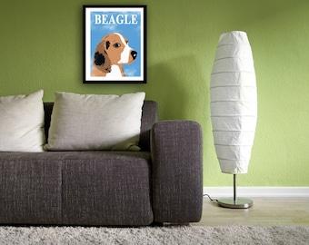 Beagle Dog - Fine art print, Beagle art , tri colored beagle