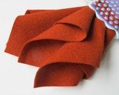 Wool Felt Sheet, Brick, 100% Merino, Choose Size, Large Felt Sheet, Felt Square, 1mm Thick, Primitive, Penny Rug Felt, Wool Applique, DIY