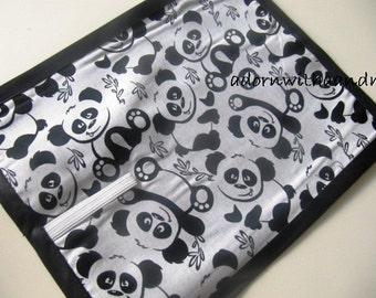 Chalkimamy Panda bear TRAVEL chalkboard mat placemat (a)