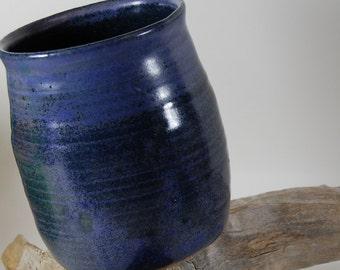 Pottery Tumbler, Sea Blue Purple Glaze Gas fired -Handmade, Serving, Wine