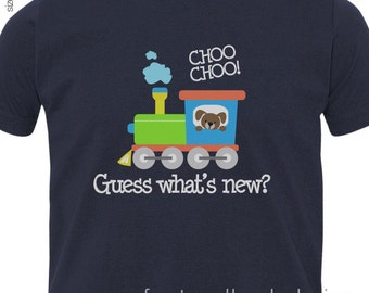 big brother shirt train FRONT/BACK DARK t shirt perfect pregnancy announcement for the train loving big brother to be