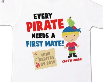 pirate big brother shirt first mate pregnancy announcement Tshirt