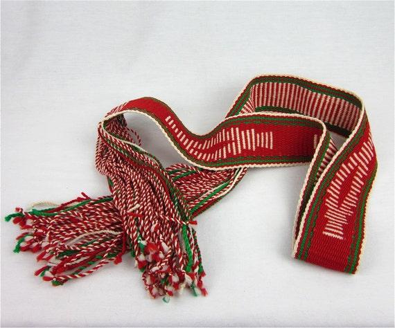 Vintage Native American Woven Sash Belt 1960s