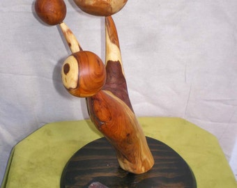 Yew Wood Abstract Art Sculpture