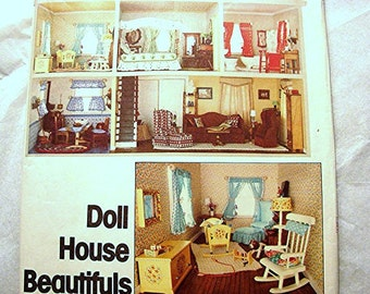 1970s Vogue Dollhouse Furniture Sewing Pattern UNCUT with Doll House Miniature Furniture Pattern