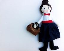 Mary Poppins Doll, cloth doll, rag doll