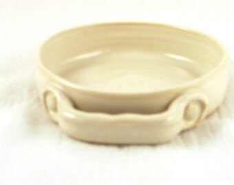 Ceramic Brie Baker - Stoneware Baking Dish - White - Handmade Wheel Thrown Ceramics Pottery