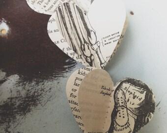 3D Paper Mobile, Vintage Gray's Anatomy, Vintage Book Mobile, Med Student Gift, Paper Decoration, Dorm Decor, Paper Mobile, Party Decoration