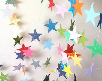 Star Garland - Party Decoration - Baby Shower - Nursery Decor - Birthday - Choose Your Length 9 - 20 Feet