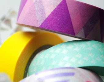 Washi Tape / Purple and Pink Triangles / 10m x 1.5cm