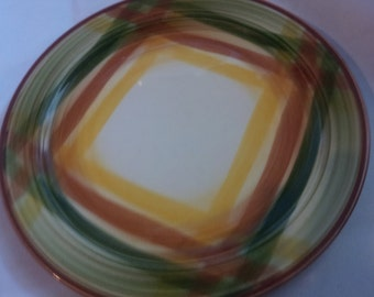 vernonware homespun bread and butter plate