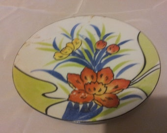 pretty hand painted japan plate