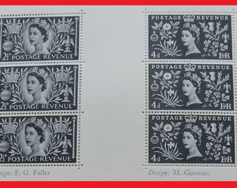 Queen Elizabeth II coronation 1953,  12 rare stamps, 1954 Penrose Annual volume 48 Great Britain British United Kingdom England UK royal