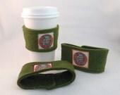 Green Plush Team Mascot Coffee Cosy