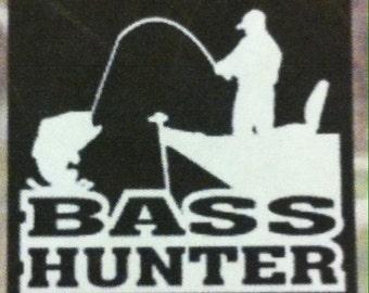 """Bass Hunter 4"""" Decal"""