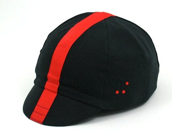 Clearance Sale: Cappello Nero Rosso Cycling Cap