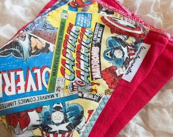 Baby Burp cloth - marvel comics bright red burp cloth