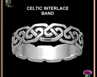 Celtic Interlace Wedding Ring - Sterling Silver CW03