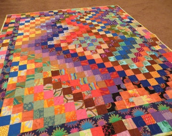 Kaffes Colorful Crooked Path Modern Quilt
