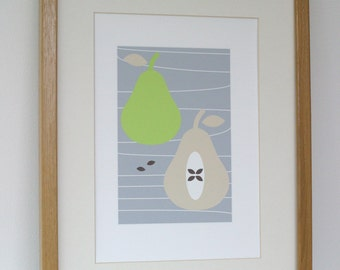 Pears A4 Digital Print Illustration