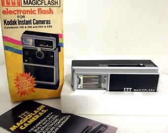 New Old Stock ITT Magicflash Electronic FLash for Kodak Colorburts 100 200 EK4 and EK6