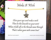 Make A Wish - Fancy Star Charm - Wish Bracelet - Shown In SUNNY - Over 100 Different Colors Are Also Available