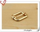 10 pieces 1 inch  (25mm)  Gold 5mm thinckness Heavy duty strap adjuster strap slider P120