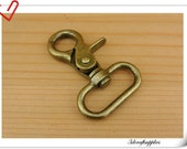 6 pieces of  1.25 inch ( 32mm) Matt anti brass Swivel Hook/  Trigger Snaps/ Lobster Hooks For Lanyard or Bag Straps AC70