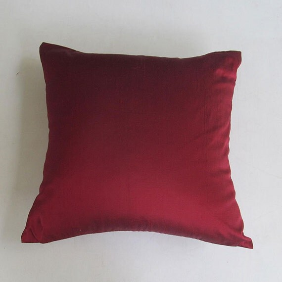 Throw Pillows Maroon : maroon silk throw pillow 16 inch red pillow by Comfyheavenpillows